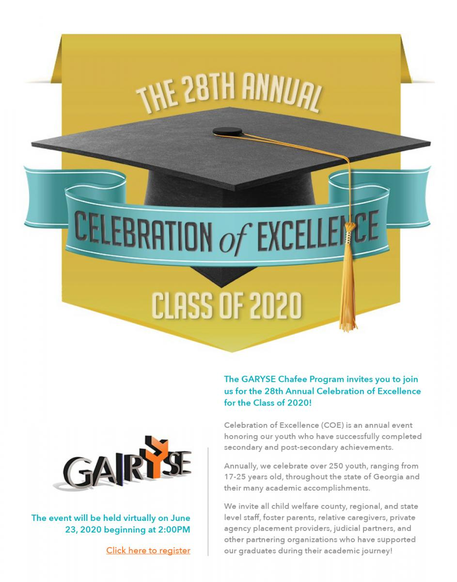 Celebration of Excellence Event. Click Anywhere on the image to sign up.